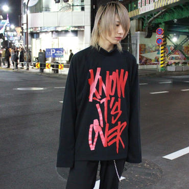 I KNOW IT'S OVER LONG SLEEVE  TEE【BLK】