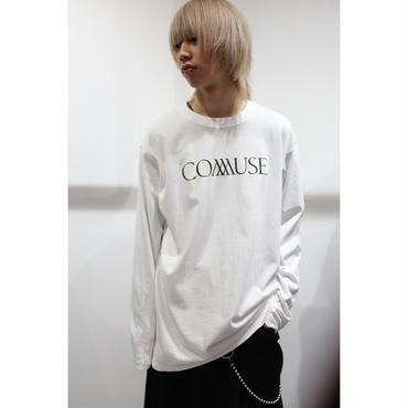 """COMMUSE"" LOGO LONG SLEEVE TEE 【WHT】"