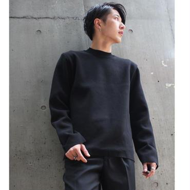 MINIMAL CREW NECK KNIT【BLK】