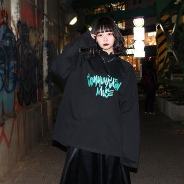 """COMMUNICATIONS MUSE"" LONG SLEEVE TEE【BLK】"