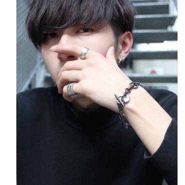 """C.M.S"" HOOPCHAIN BRACELET【BLK】"