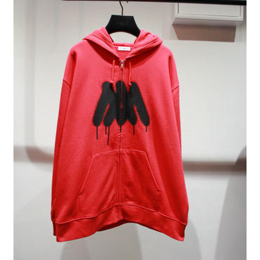 MM BACKGROUND FULL ZIP PARKA【RED】