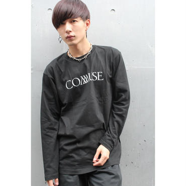 """COMMUSE"" LOGO LONG SLEEVE TEE【BLK】"