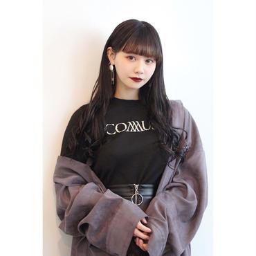 """L. """"COMMUSE """" JACQUARD LOGO KNIT【BLK】"""