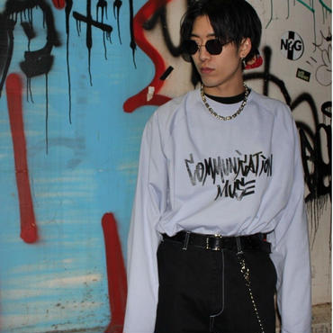 """COMMUNICATIONS MUSE"" LONG SLEEVE TEE【PPL】"