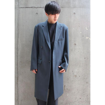 OVER-LIGHT CROMBIE COAT【NVY】