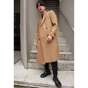 BARONIARU  HIGH-SLIT CHESTER COAT【BGE】