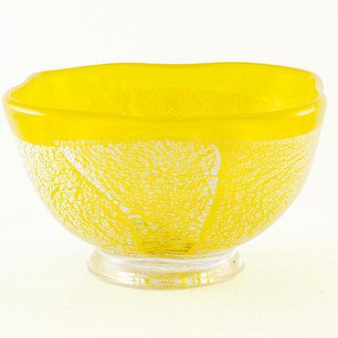 銀彩角小鉢(黄)