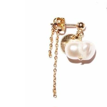 twin pearl earrings-1(片耳)