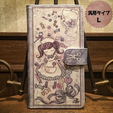 スマホLサイズ『致死量のキャンディー』手帳型ケース