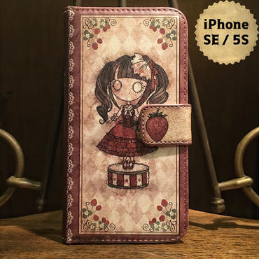 iPhone SE / 5S『首吊り苺』手帳型ケース