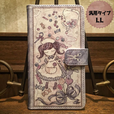 スマホLLサイズ『致死量のキャンディー』手帳型ケース