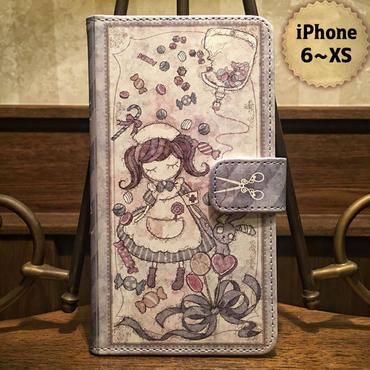 iPhone 6~XS『致死量のキャンディー』手帳型ケース