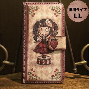 スマホLLサイズ『首吊り苺』手帳型ケース