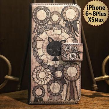 iPhone plus 6~8,XS Max『さよならンディーヌ』手帳型ケース