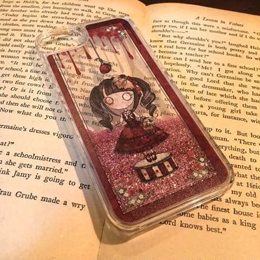 iPhone 6~XS『首吊り苺』グリッターケース