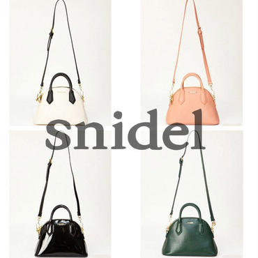 【数量限定】Snidel【スナイデル】セミサークルバッグ | ハンドバッグ | 2way | レザー | レディース | ショルダーバッグ!![SD-08]
