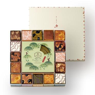 美濃いび茶もっちりクーヘン[抹茶]&奏でる積み木16個セット