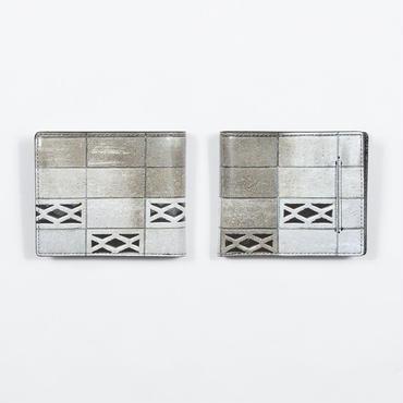 大人気につきラスト1点 日本の塀 二つ折り財布