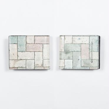 カラーブロック 2つ折財布