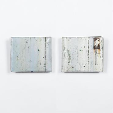 白ペンキの鉄板 2つ折財布
