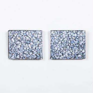駐車場の石 二つ折り財布