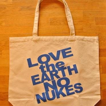 LOVE the EARTH NO NUKES キャンバストートバッグ