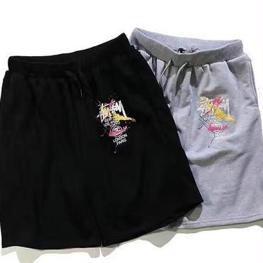 夏作 ステューシーカジュアルパンツ スポーツ半ズボン メンズ