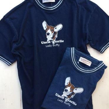 インディゴ ラインリブTシャツ