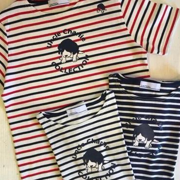 ボートネックTシャツ:ボーダー半袖(全3色)