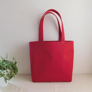 帆布トートバッグ 赤