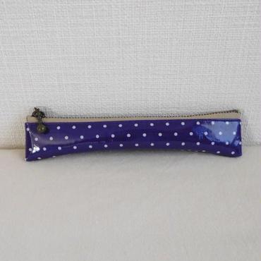 万年筆ケース 16cm  紫水玉
