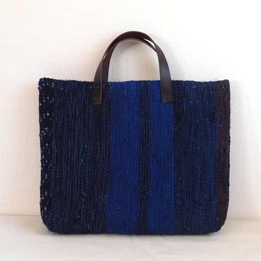 藍染 裂き織りバッグ