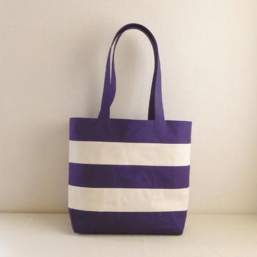 ラガートート 紫紺×オフホワイト