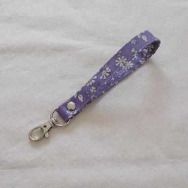 リバティ キーストラップ 紫花