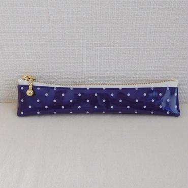万年筆ケース 15cm  紫水玉