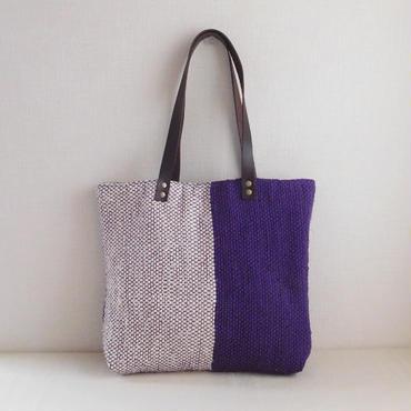 裂き織りバッグ パープル