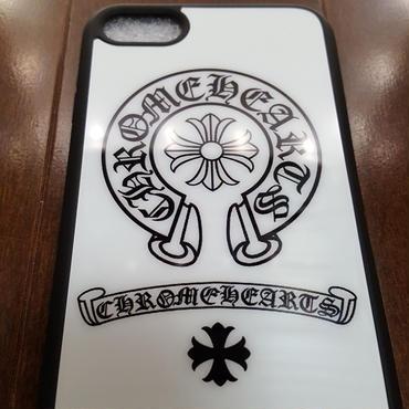 【送料無料】最新作 iPhone7 スマホケース ホワイトミラーバージョン ホースシュー&クロス 【ChromeHeartsタイプ】クロムハーツ好き様へ 4.7インチ