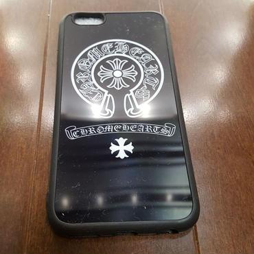 【送料無料】最新作 iPhone6/6S スマホケース ブラックミラーバージョン ホースシュー&クロス クロムハーツタイプ 4.7インチ