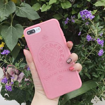 Iphone各種★スマホケース★タイプクロムハーツ★春色ピンク★アイホン・スマホカバー