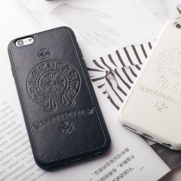 Iphone6s plus  スマホケース 人気のホースシューエンブレム タイプクロムハーツ【ブラック・ホワイト・ピンク】