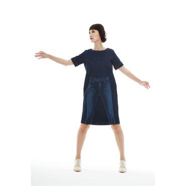 「ストレッチデニム・ワンピース」ayumi.mitsukane , 2017SS(209A-D44181)