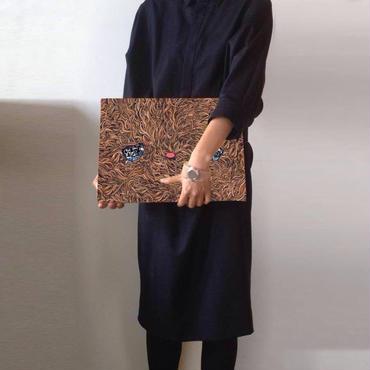 「Mojamoja クラッチバッグ」SHUUN , 2014 , 布製クラッチバッグ