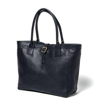 LEATHER TOTE BAG (NAVY)