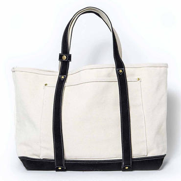 BASIC BIG TOTE ( WHITE×BLACK )
