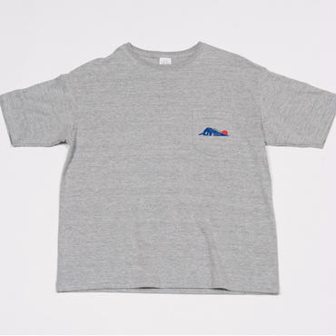 [佐藤映像]SATO EIZO LOGO tee-shirt(mix-gray)ポケット付