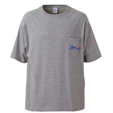 SATO EIZO LOGO tee-shirt(mix-gray)ポケット付