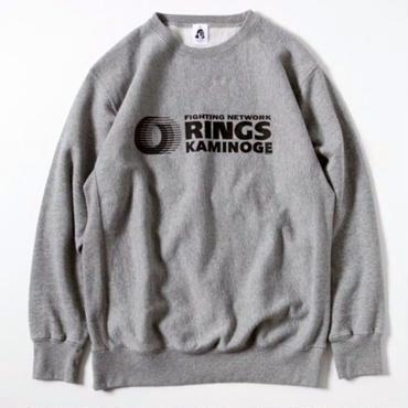 """RINGS""""KAMINOGE """" 12oz  sweat(gray)"""