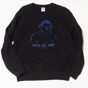 """鈴木みのる""""KAZE NI NARE""""crew neck sweat(black)"""