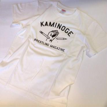 """""""KAMINOGE WRESTLING MAGAZINE"""" tee-shirt (vanilla-white)"""